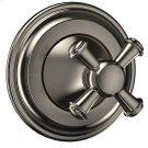 Vivian Volume Control Trim- Cross Handle - Brushed Nickel Product Image