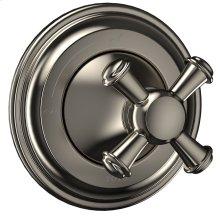 Vivian Volume Control Trim- Cross Handle - Brushed Nickel