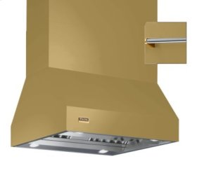 """54"""" Wide Island Hood, Brass Accessory Rail on front, back and both sides"""