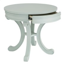 Indigo Blue Accents Round Accent Table Watery