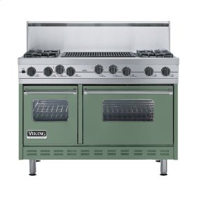 "Mint Julep 48"" Sealed Burner Self-Cleaning Range - VGSC (48"" wide, four burners & 24"" wide char-grill)"