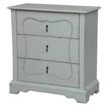 Magnolia Farmhouse White 3 Drawer Chest