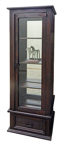 Med. Rough Gun Curio Mirror Back