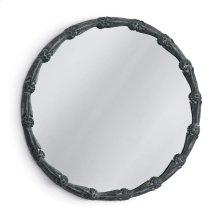 Floral Mirror In Zinc