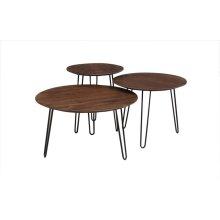 Graphik Chestnut Round Coffee Tables Set of 3, HC2682M01-C