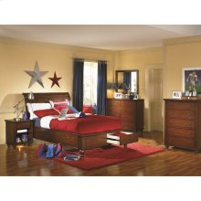 Twin Sleigh Bed with Storage