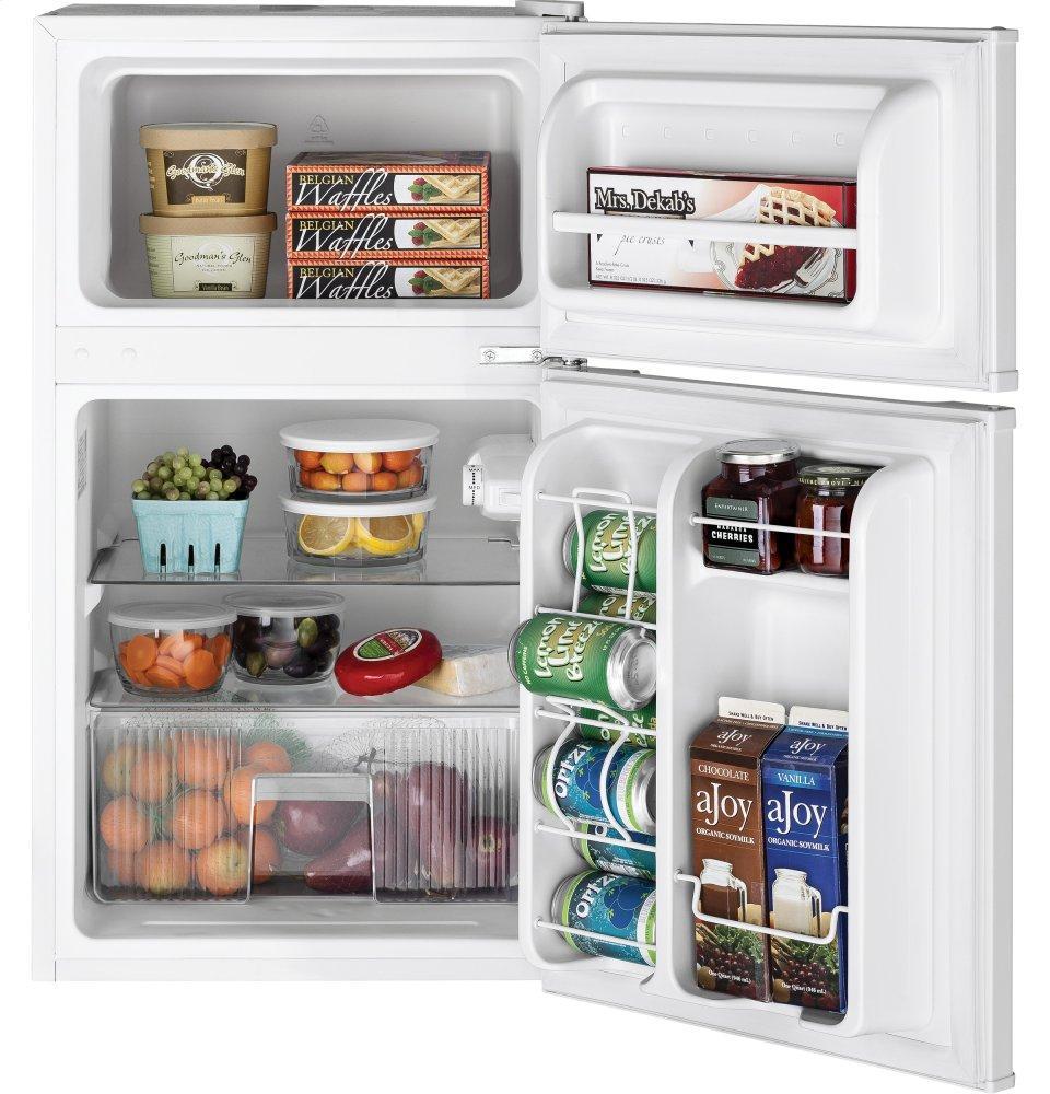 GE Ge(r) Double Door Compact Refrigerator