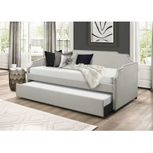 7513 Beige Daybed with Trundle