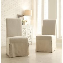 Mix-n-match Chairs - Slipcover Parson's Chair - Canby Rustic Pine Finish