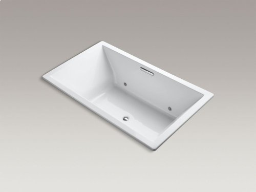 "Sandbar 72"" X 42"" Drop-in Vibracoustic Bath With Chromatherapy and Center Drain"