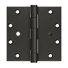 """5""""x5"""" Square Hinge, 2BB, Security - Oil-rubbed Bronze"""