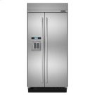 "42"" Built-In Side-by-Side Refrigerator with Water Dispenser Product Image"