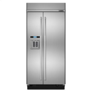 "Jennair42"" Built-In Side-by-Side Refrigerator with Water Dispenser"