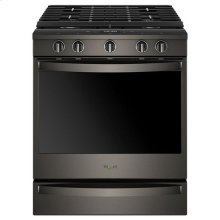 Whirlpool® 5.8 Cu. Ft. Smart Slide-in Gas Range with EZ-2-Lift™ Hinged Cast-iron Grates 1 - Print Resist Blk Stnlss