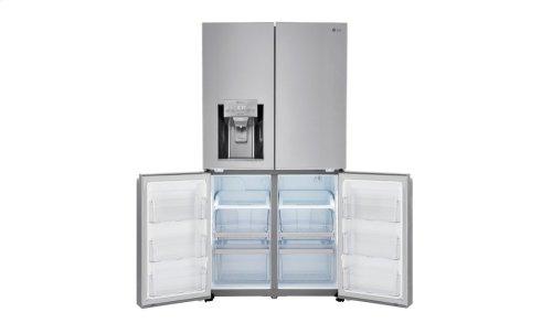 23 cu. ft. Capacity 4-Door French Door Counter-Depth Refrigerator