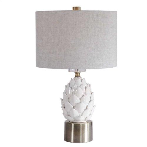 White Artichoke Table Lamp