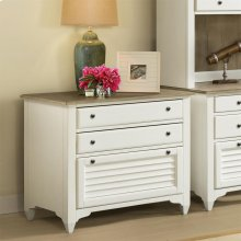 Myra - Lateral Files Cabinet - Natural/paperwhite Finish