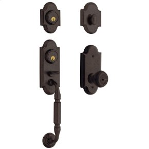 Distressed Venetian Bronze Ashton Two-Point Lock Handleset
