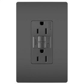 Tamper-Resistant 15A Outlet Branch Circuit AFCI Receptacle, Black
