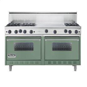 """Mint Julep 60"""" Open Burner Commercial Depth Range - VGRC (60"""" wide, six burners 24"""" wide griddle/simmer plate)"""