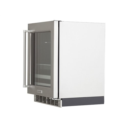 """24"""" Stainless Steel Beverage Center with SatinGlide® Metal-Front Racks"""