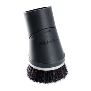 Dusting brush with flexible swivel joint For gentle cleaning of high-quality floors -