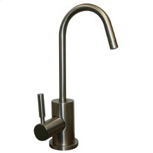 Point of Use instant hot water faucet with a gooseneck spout and a self-closing handle.