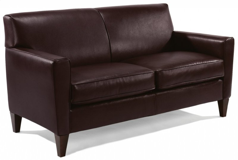 Digby Leather Two Cushion Sofa Flexsteel Logo