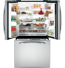 GE Profile™ ENERGY STAR® 25.1 Cu. Ft. French Door Refrigerator with External Dispenser