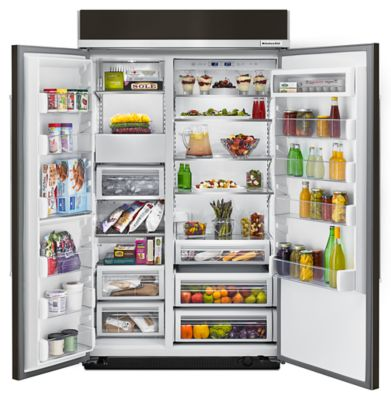 30.0 Cu. Ft 48 Inch Width Built In Side By Side Refrigerator With