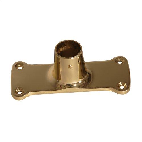Jumbo Shower Rod Flange - Polished Brass