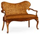 Seaweed Marquetry Loveseat (Leather) Product Image