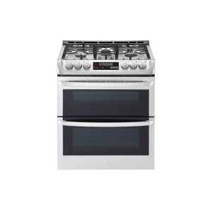 LG Appliances6.9 cu. ft. Smart wi-fi Enabled Gas Double Oven Slide-In Range with ProBake Convection(R) and EasyClean(R)