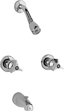 Concealed Two Handle Shower Valve with Shower Head and Diverter Tub Spout