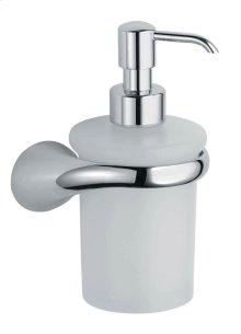 Soap Dispenser and Holder - Brushed Nickel