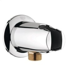 Starlight® Chrome Wall Union With Hand Shower Holder