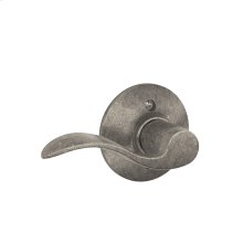 Accent Lever Non-turning Lock - Distressed Nickel