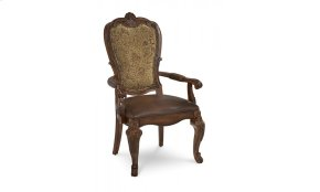 Old World Upholstered Back Arm Chair