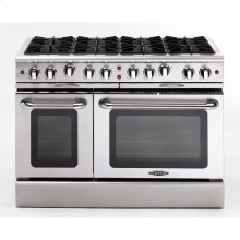 "48"" Gas Range with 8 Open Burners 25K BTU"