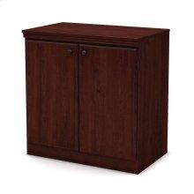 Small 2-Door Storage Cabinet - Royal Cherry