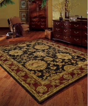 Jaipur Ja18 Blk Rectangle Rug 3'9'' X 5'9''