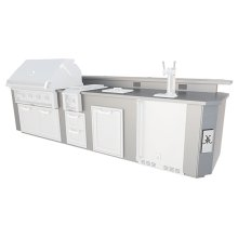 12' Outdoor Living Suites with Side Burners - GE Series