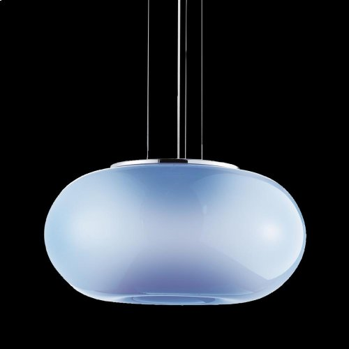 3-LIGHT LARGE CONVERTIBLE PENDANT - Chrome/blue