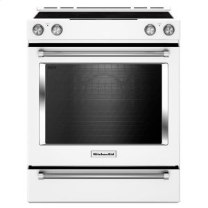 30-Inch 5-Element Electric Convection Slide-In Range with Baking Drawer - White - WHITE