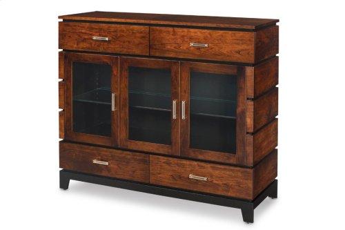 Frisco 3-Door Dining Cabinet with Glass Doors
