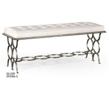 "Silver Iron ""Circles"" Bench"