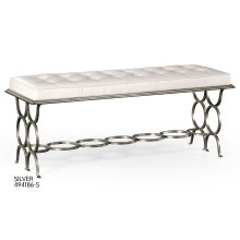 """Silver Iron """"Circles"""" Bench"""
