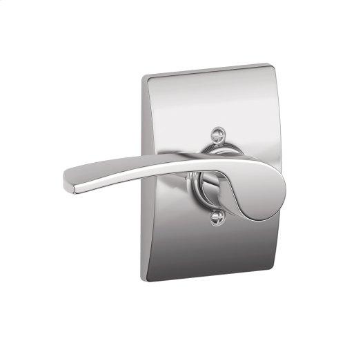 Merano Lever with Century trim Non-turning Lock - Bright Chrome
