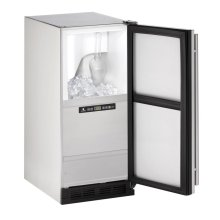 """15"""" Outdoor Clear Ice Machine Stainless Solid Field Reversible (Pump Not Included)"""