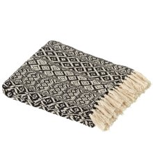 Black & White Tribal Pattern Throw